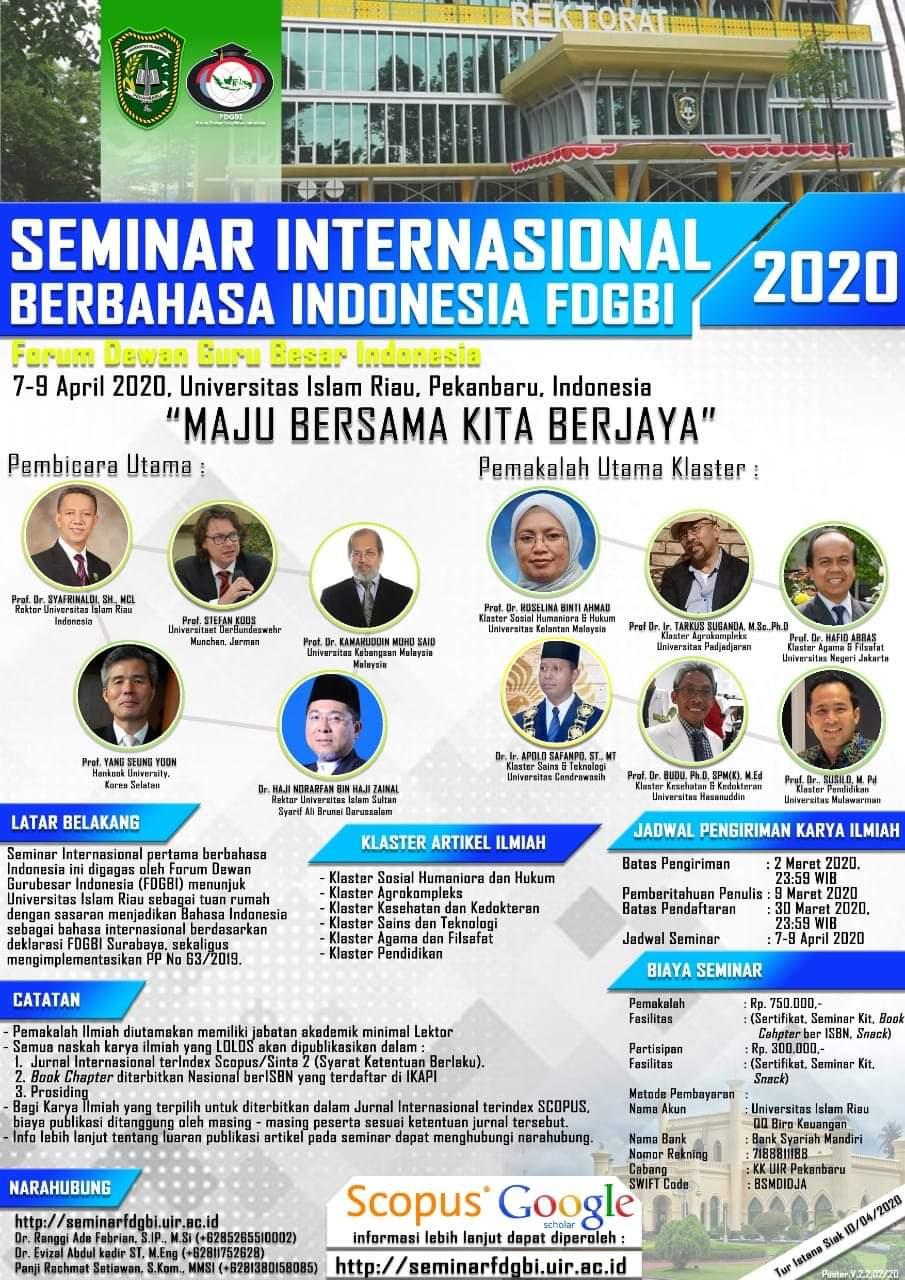 Seminar Internasional Berbahasa Indonesia FDGBI