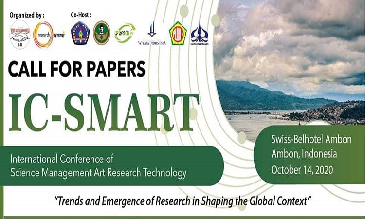 International Conference of Science Management Art Research Technology (IC-SMART) Oktober 2020