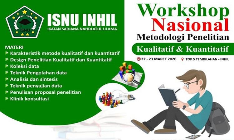 Workshop Nasional Metode Penelitian Kualitatif & Kuantitatif Maret 2020