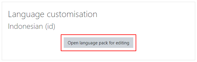 Open Language customisation