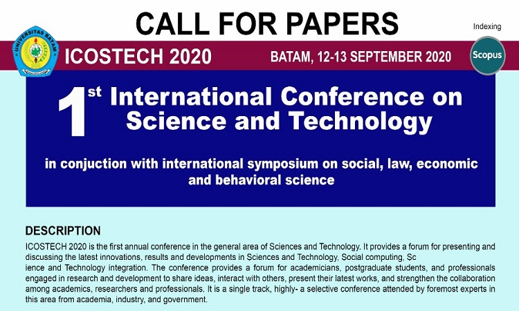 Call for Papers International Conference on Science and Technology September 2020