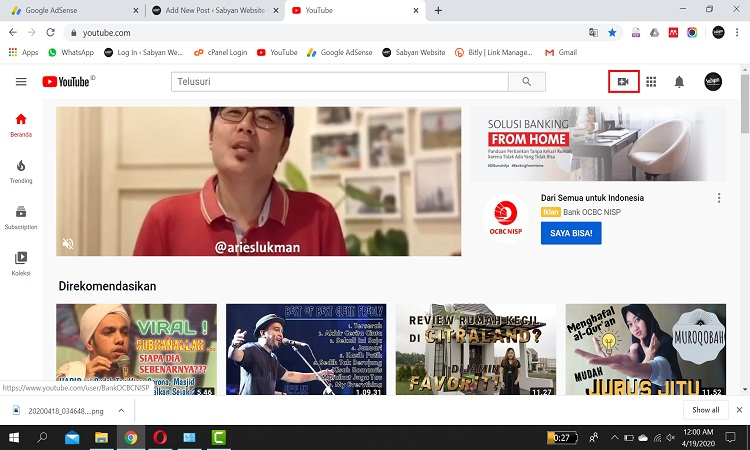 Cara Jitu Upload Video ke Youtube