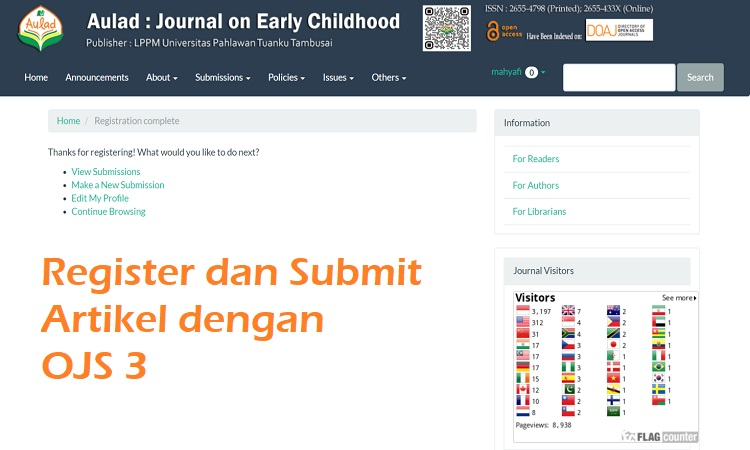 Register dan Submit Artikel dengan OJS Versi 3