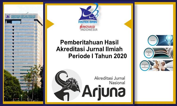 Sumber foto : Arjuna Pemberitahuan Hasil Akreditasi Jurnal Ilmiah periode 2020