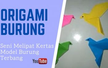 Origami Model Burung Terbang