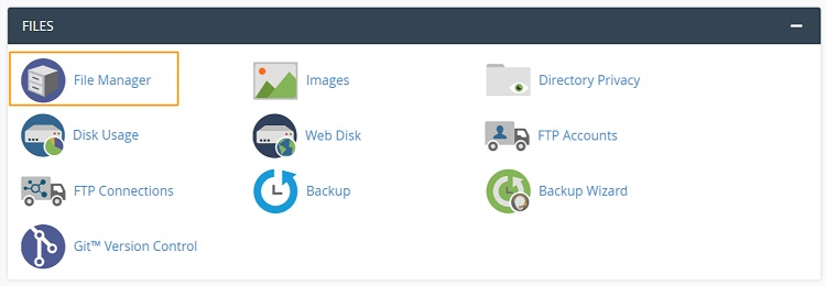 File manager pada akun cpanel sebagai cara mengatasi tampilan ojs berantakan
