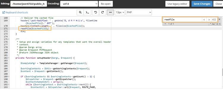 Mencari file scrip readfile